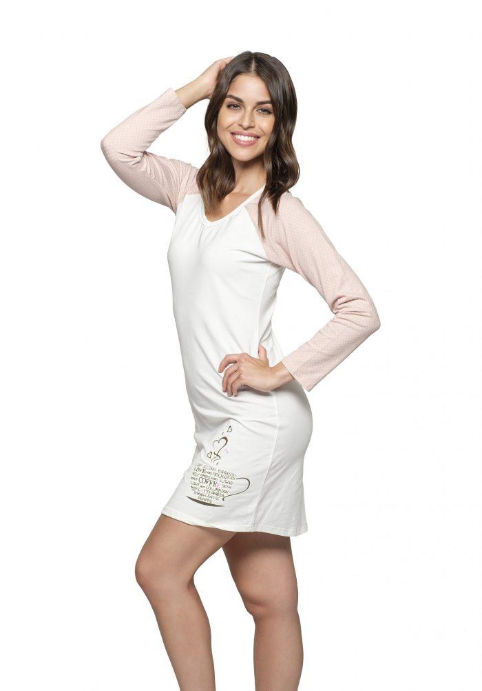 Dámska nočná košeľa CIRILLA COFFEE značky Poppy Lingerie.