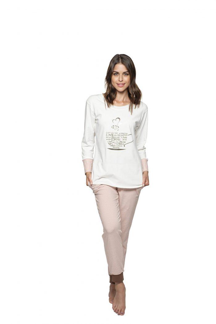 Dámske pyžamo MELISSA COFFEE značky Poppy Lingerie.