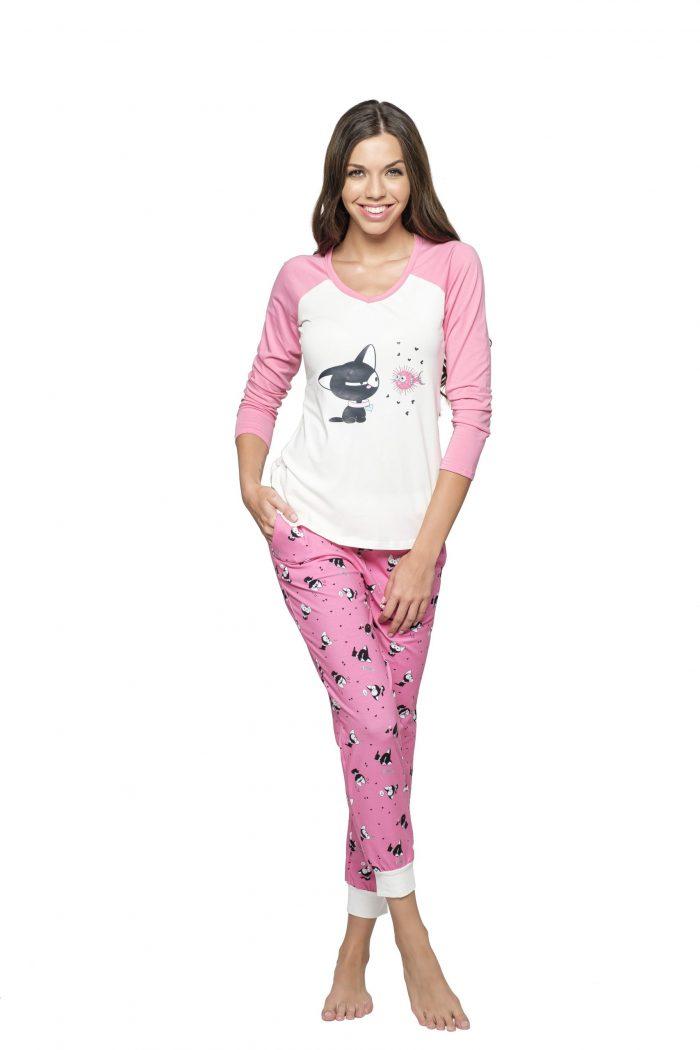 Dámske pyžamo KYRA MAČKA značky Poppy Lingerie.