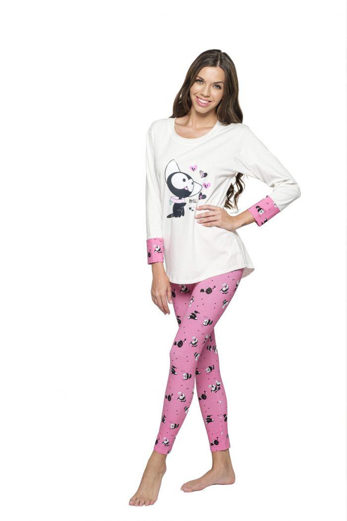 Dámske pyžamo MADELINE MAČKA značky Poppy Lingerie