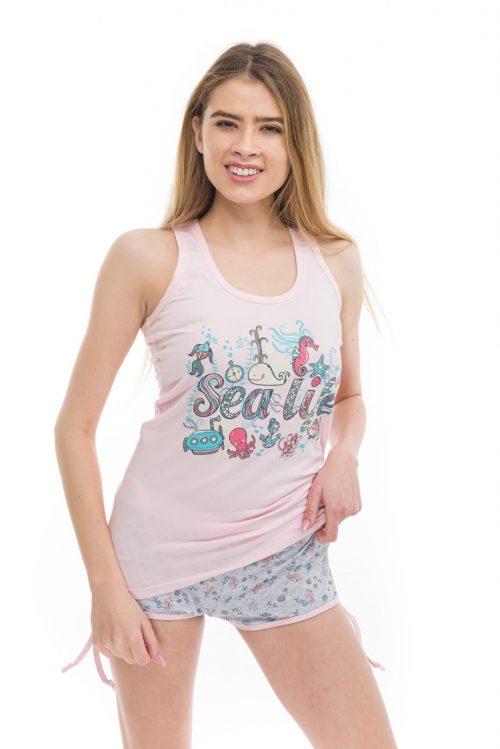 Dámske pyžamo Sea Life značky Poppy Lingerie.