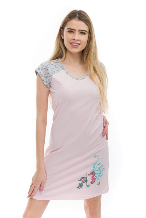 Dámska nočná košeľa cirilla Sea Life značky Poppy Lingerie.