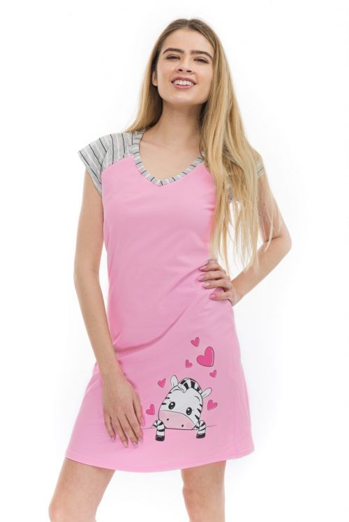 Dámska nočná košeľa cirilla Zebra značky Poppy Lingerie.