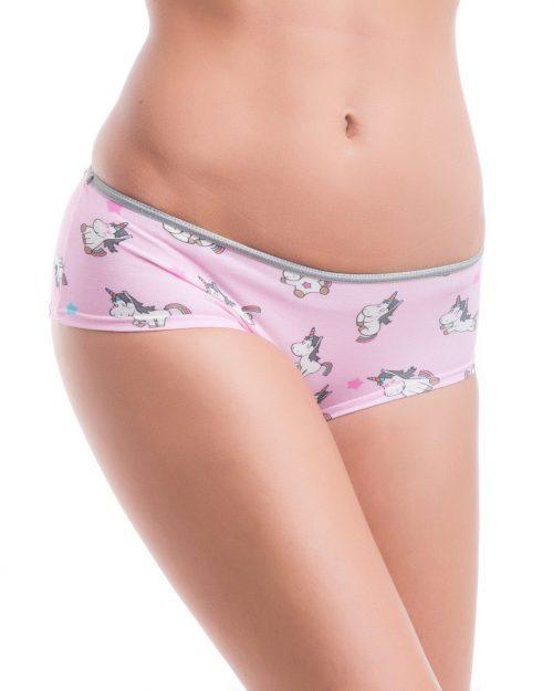 Dámske nohavičky MELANIE značky Poppy Lingerie s motívom jednorožcov.
