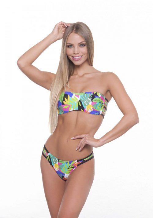 Dámske dvojdielne plavky JESSIE LEAVES PINK značky Poppy Lingerie.