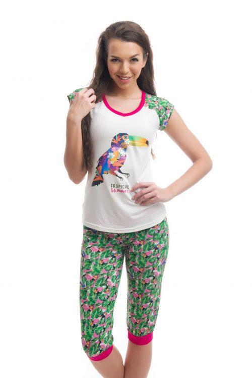 Dámske pyžamo s krátkym rukávom značky Poppy Lingerie.