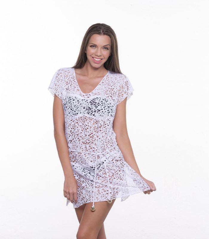 Dámske plážové šaty LILI - biela|Plážové šaty HELENA - biela
