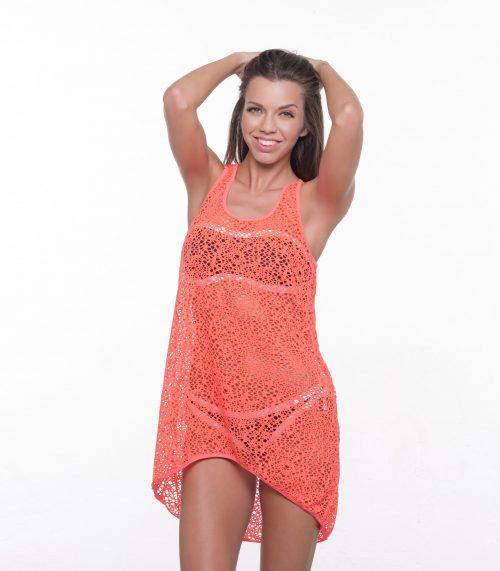 Dámske plážové šaty LILI - orandžová|Dámske plážové šaty LILI - orandžová