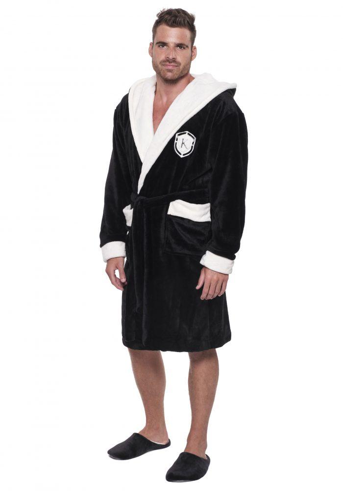Pánsky župan KÖNIG - black|Pánsky župan KÖNIG - black|Pánsky župan KÖNIG - khaki grey|Pánsky župan KÖNIG - navy blue