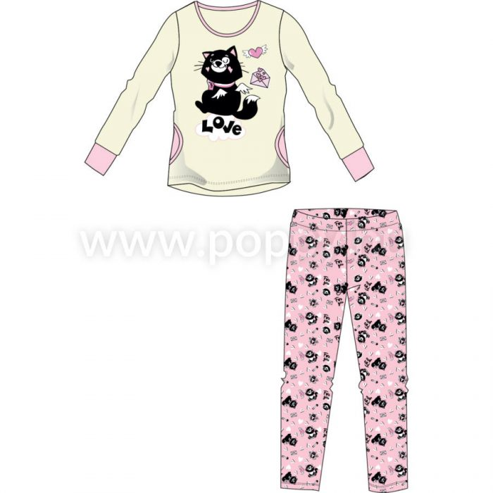 Dámske pyžamo AMINA CUTE CICA