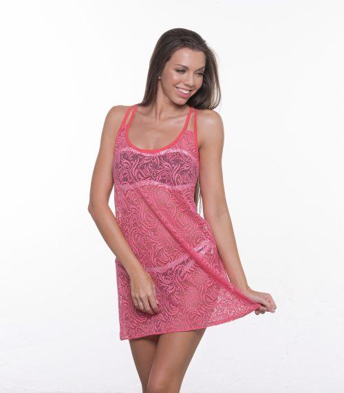 Plážové šaty HOOP PINK|Plážové šaty HOOP PINK
