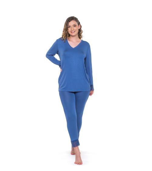 Dámske pyžamo NANCY BLUE|Dámske pyžamo NANCY MAUVE